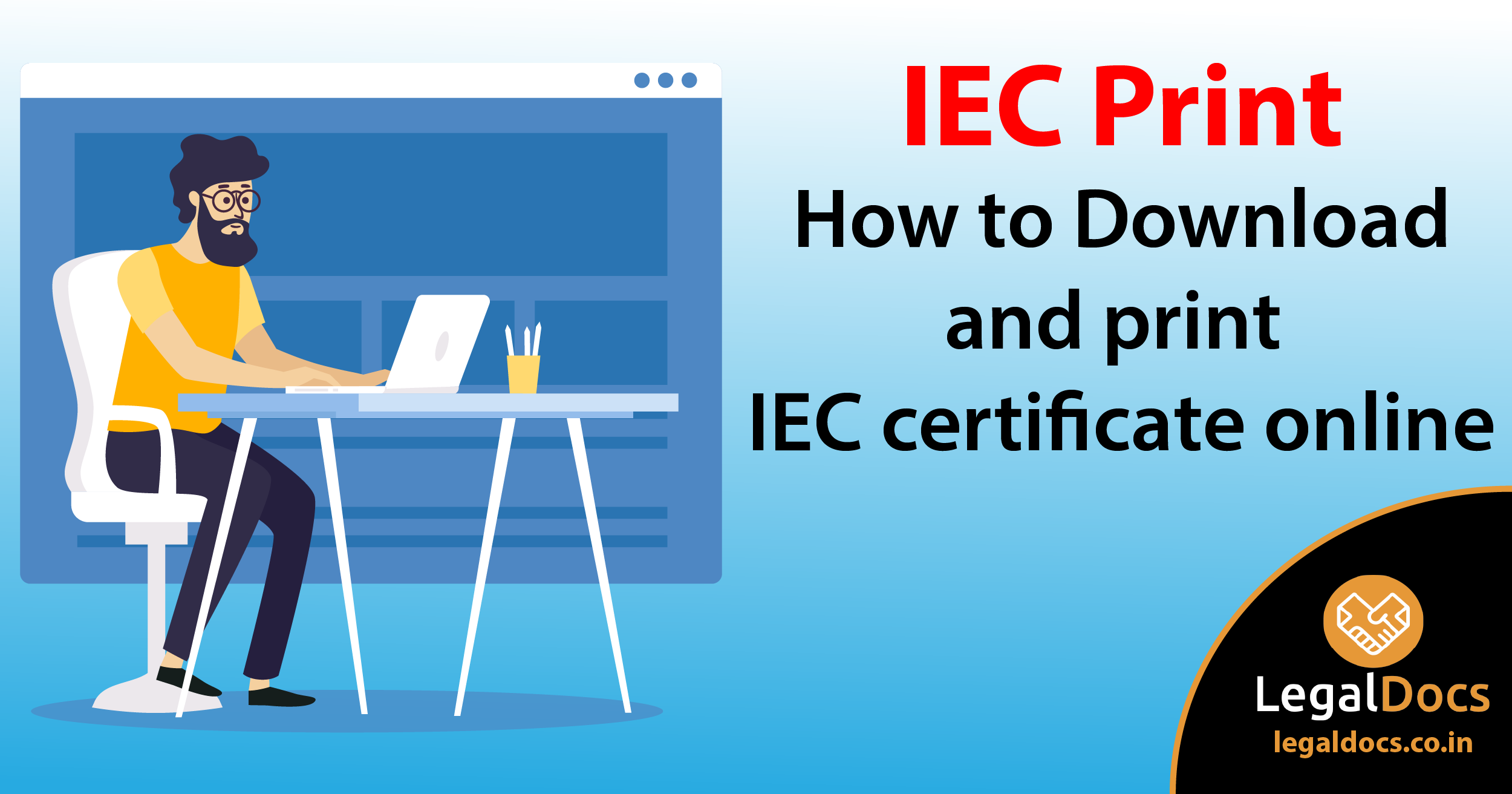 IEC Print - How to Download and Print IEC Certificate Online