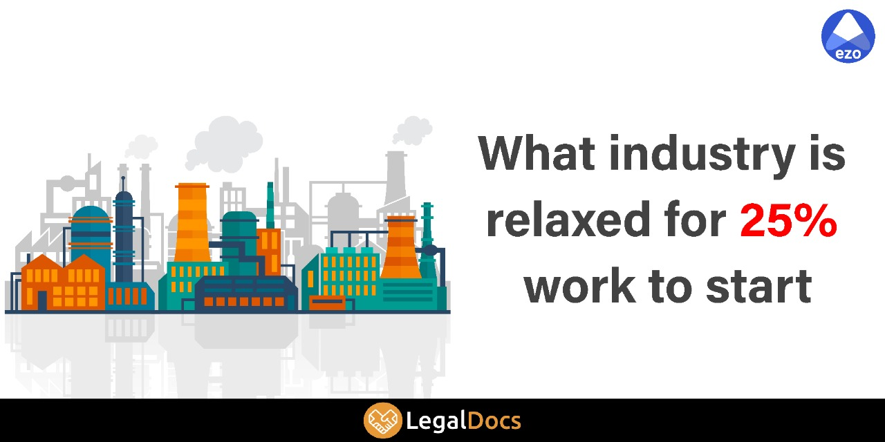 What Industry is Relaxed for 25\\% Work to Start - LegalDocs